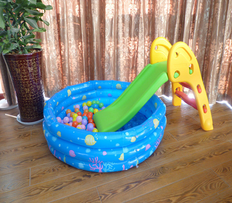 High quality ocean ball pool and plastic foldable small slide for children