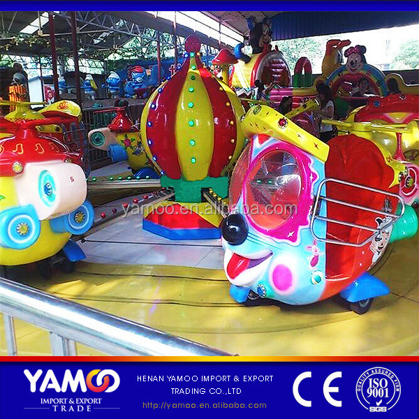 Rotating mechanical kids play funfair games kiddie rides big eyes plane amusement park rides for sale