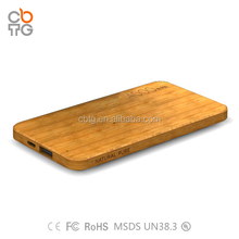 Hot selling Wood Power BANK 4000mAh /5000mah Portable Bank Power
