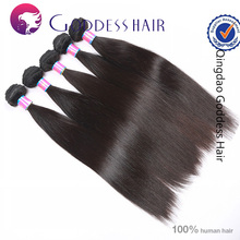 Factory wholesale 5A Brazilian virgin remy human hair 1b# straight dev hair exports