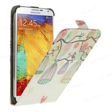 Bird on the Tree and Cage for Samsung Galaxy Note 3 N9005 Vertical Leather Flip Cover