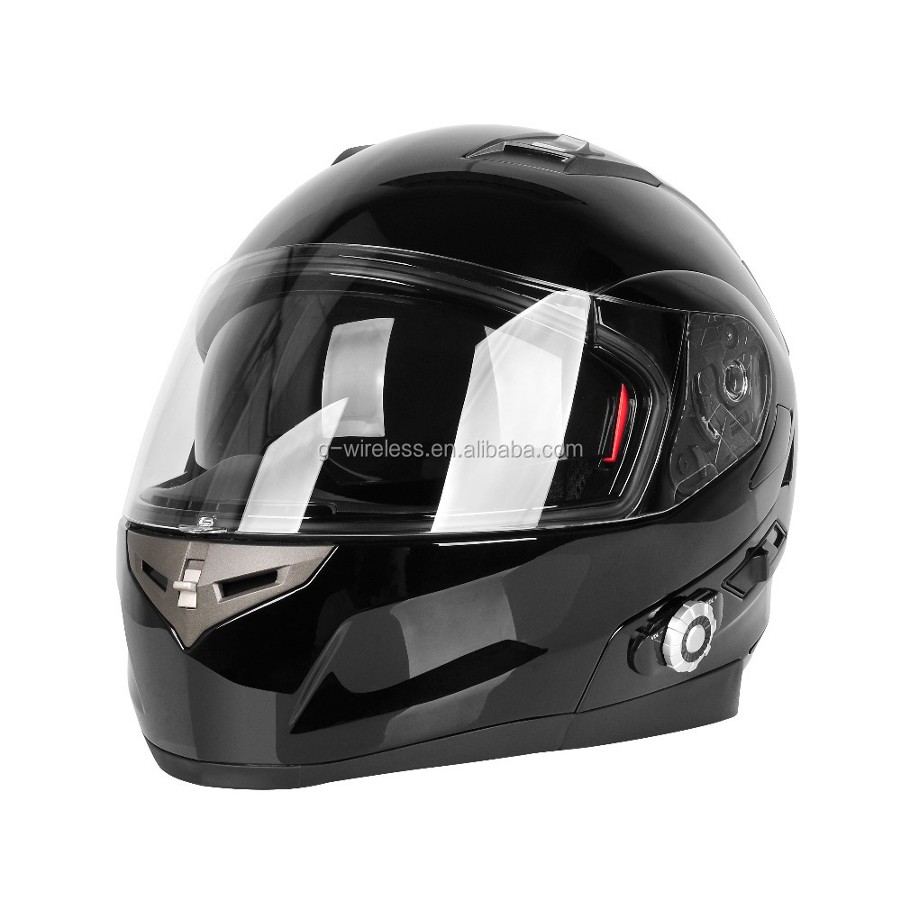 Matt Black Bluetooth Headset Helmet Full Face Helmet Motorcycle