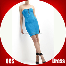 Knee length bandage dress in rayon vetement women for party
