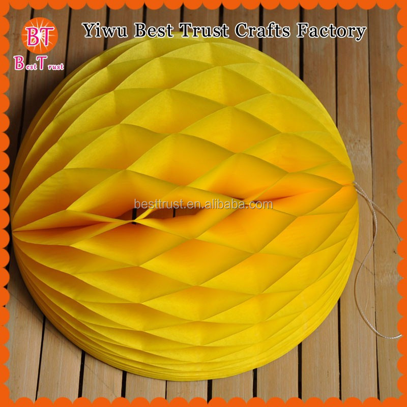 Chinese Pineapple Paper Honeycomb Artificial Flower And Garland For Party Decorations