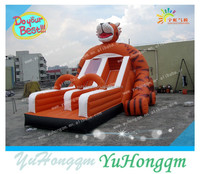 China manufacturing top quality advertising giant inflatable tiger slide for sale