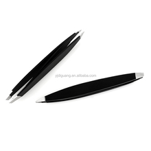 Stainless Steel Slant Tip Tweezers With Double Side Best Surgical Grade Tweezers for Eyebrow pluckers, Ingrown Hair, Nose Hair