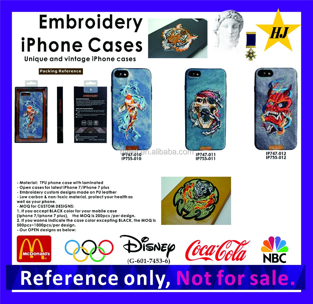 Luxury Embroidery mobile phone case