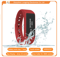 Bluetooth IP67 touch screen waterproof bracelet for ios and android mobile phone