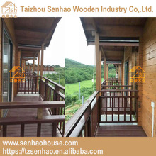Low cost prefabricated wooden house/villa with terrace wood house