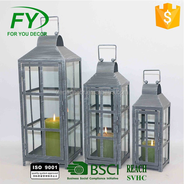 Outdoor Indoor Decoration Christmas and wedding metal Lanterns with star decoration
