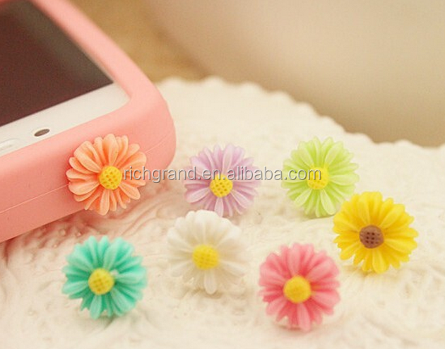 wholesale universal Little Daisy anti dust plug for iPhone for Samsung Galaxy 3.5 mm