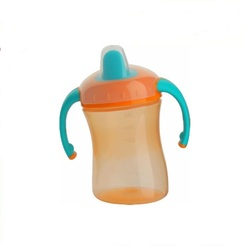 BPA PVC and Phthalate Free bottom price spill free baby training cup bpa free