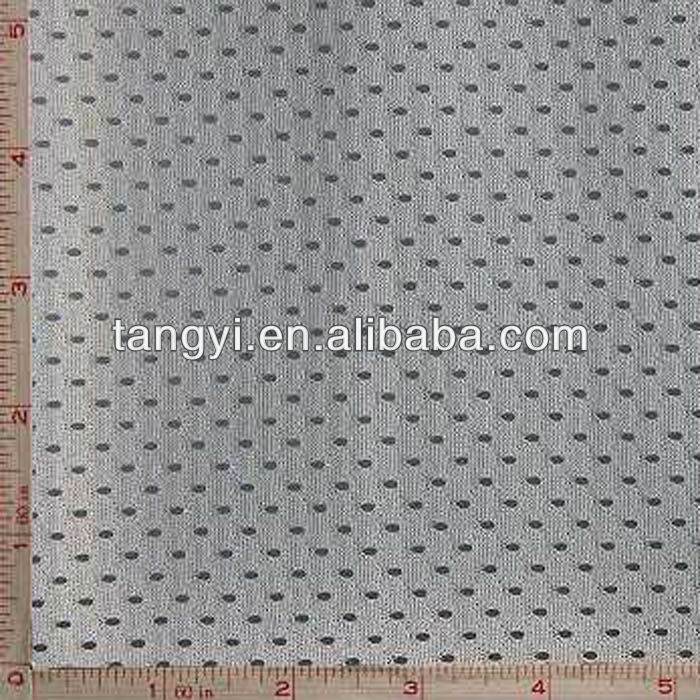 100% polyester reflective tricot warp knitted eyelet fabric
