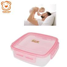 Smart Dog Storage Heat Resistant Disposable Square Plastic Easy Lock Air Hole Keep Warm Insulated Food Container