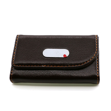 Custom-made PU Leather Magnetic Business Belt Clip Card Case
