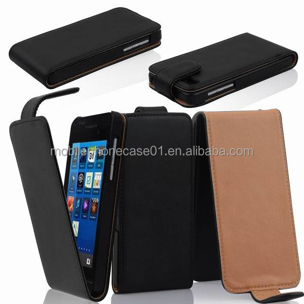 Cell Phone Flip Cover for Blackberry Z10 Leather Case