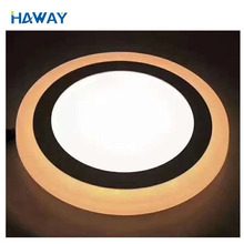 Hot selling EMC 3+3w surface /concealed slime China Aluminum Extrusion double color Led Panel Light
