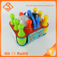 Novelty plastic product kids bowling game set educational toy 2016