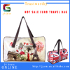 France Popular Man-made Manufacture Custom Leather Duffle Bag Printed Fashion Women Rose Souvenir Tower Travelling Bag Luggage