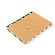 Best price A4 size plain recycled paper grid printing spiral notebook wholesale