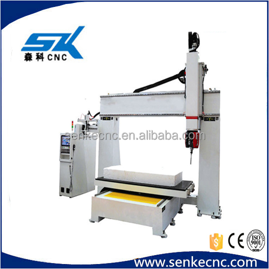 z axis 700mm wood art work 5 axis cnc engraving machine 3d carving machinery 5 axis cnc woodworking machine