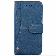 Matte surface flip PU leather case for iphone, classic mobile phone cover