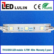 12v led light module o.72w smd 5054 epoxy resin led module warranty 3 years waterproof ip68 for light up letters