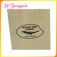 2016 Wholesale high quality block bottom brown kraft paper bags