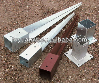 Carbon steel post anchor screw anchor pole anchor