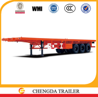 20 and 40 feet flatbed container trailer semi-trailer manufacturer 12500x2500x1550mm dimensions