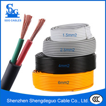 pvc insulated 1.5mm copper round instrument 2 core flexible cable