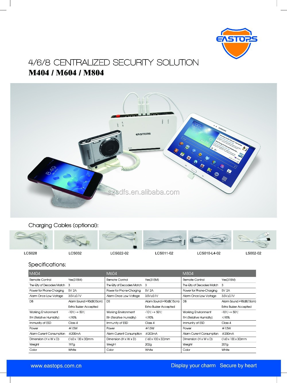 Display protection device security exhibition alarm
