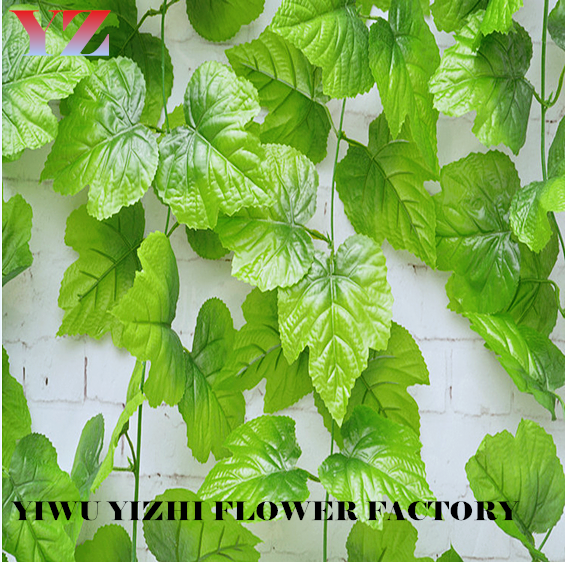 The grape leaf vine leaves Tojo Karikato decorative plastic flowers green vine plant green leaf wholesale