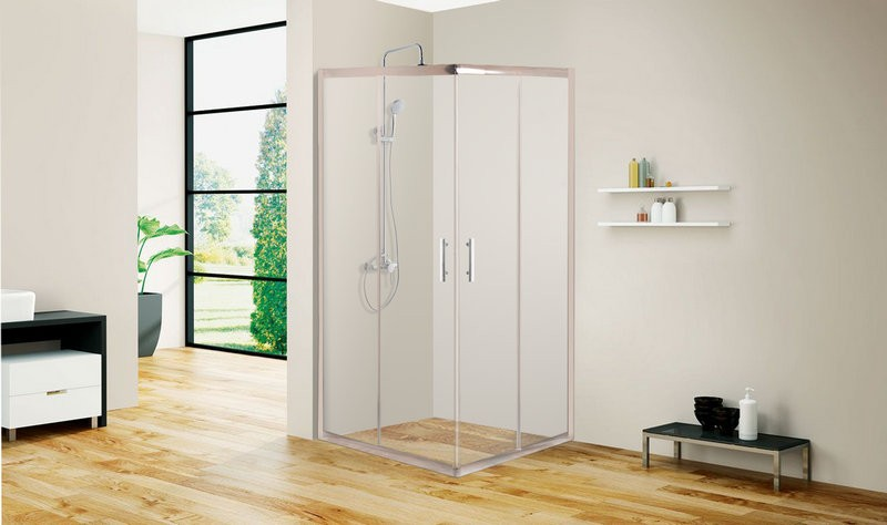 Constar Bathroom adjustable Frosted Glass Shower Enclosure
