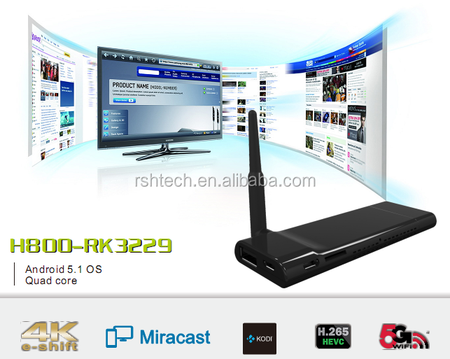 HDMI TV Stick Android media player RK3229 tv dongle miracast airplay DLNA wifi display hotspot Android 5.1 TV BOX