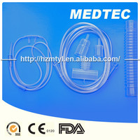 Disposible single packed high flow cannula medical grade 100% pvc oxygen nasal tube OEM brand hot sale