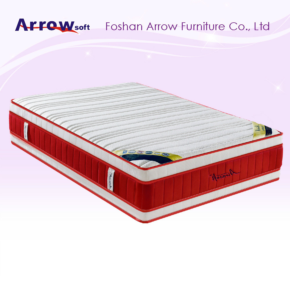 Red 3d fabric memory foam medical hospital bed mattress for Buy used mattress online