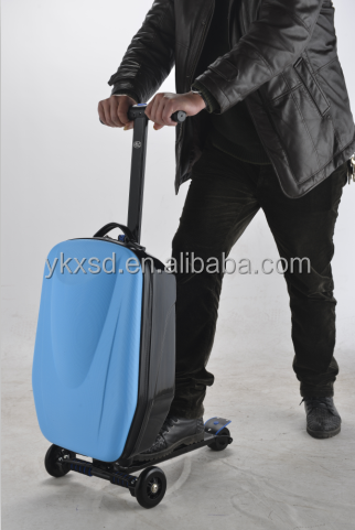 High Strength Aluminum Frame Luggage Case / Scooter Suitcase / Trolley Luggage