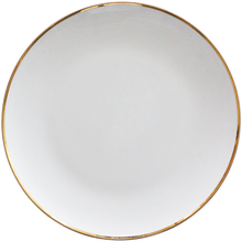 High quality hotel used decorative bone china gold charger plates for wedding