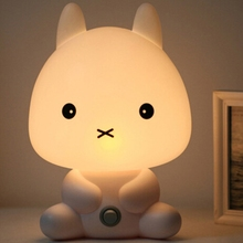 2019 new products Baby Bedroom Lamps Night Light Cartoon Pets Pvc Plastic Sleep Led Kid Lamp Bulb rabbit