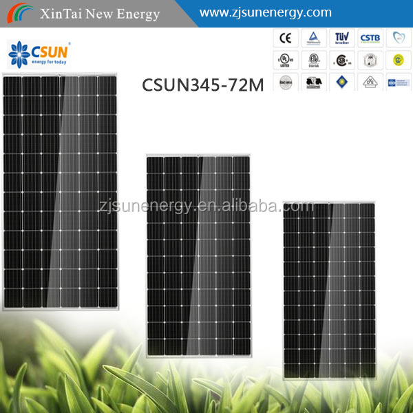 72 Cell famouse CSUN Mono 330W solar panel WITH FULL CERTIFICATE