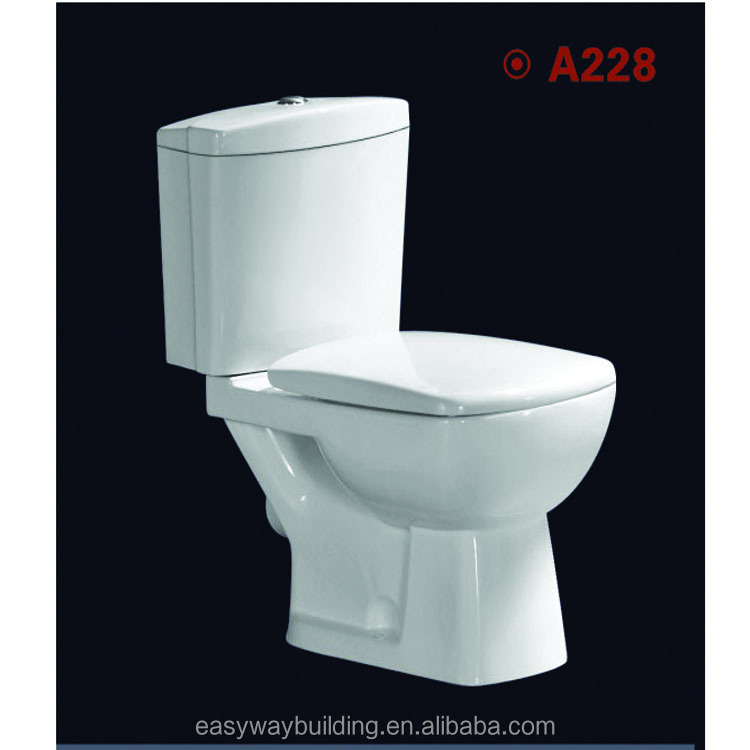 hot selling wash down two piece Toilet bathoom in Guangzhou factory