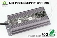 80W Constant Current Waterproof LED Power Supply Driver IP67 power amplifier