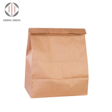 100gsm brown kraft reusable grocery storage kraft paper bag without handle for vegetables