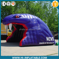 Customized inflatable snake head tunnel, inflatable mascot tunnel,inflatable entrance tunnel