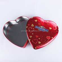 heart shaped tin package gift metal empty tin cans