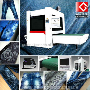 Jeans Laser Engraving Machine for Denim Washing Laundries Processing