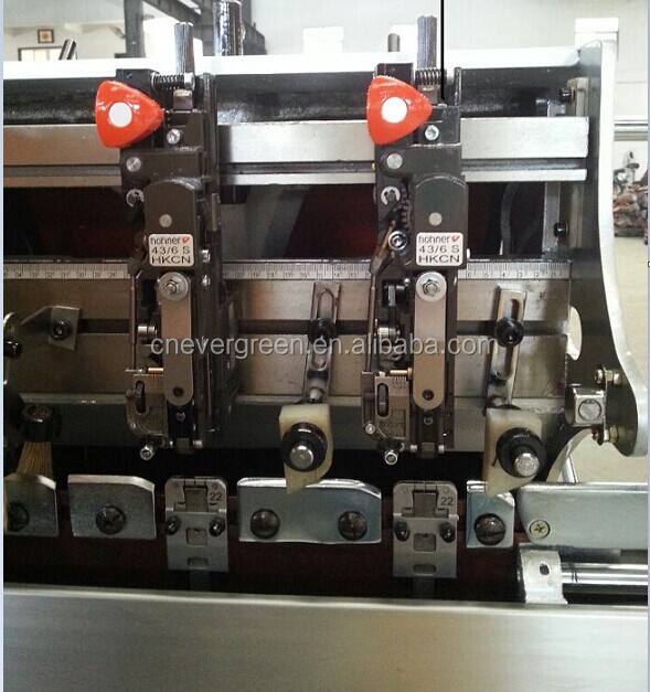 Shanghai China made book stitching machine, super quality auto saddle stitching machine