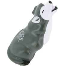 factory supplier promotional gift animal custom PU Gray Wolf Stress Ball