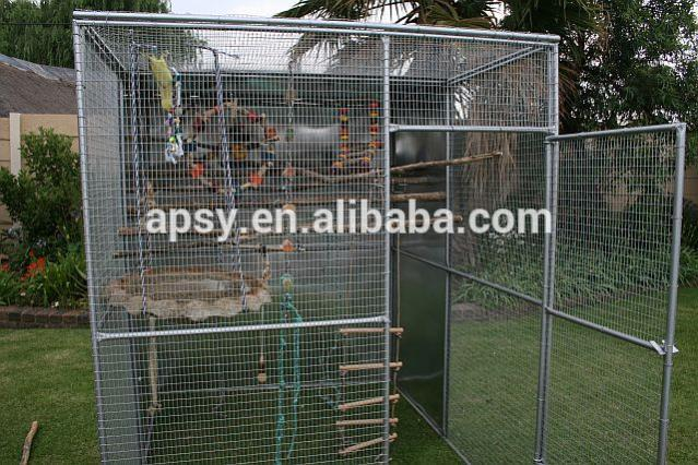 black powder coated welded wire premium lifestyle deluxe metal bird aviary.